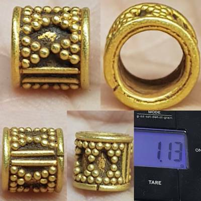Beautiful 22k Gold Ancient Lovely Unique BEAD  # 1L