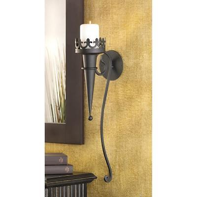 Old Medieval Time Era, Castle like GOTHIC CANDLE SCONCE Wall Home Decor set of 2
