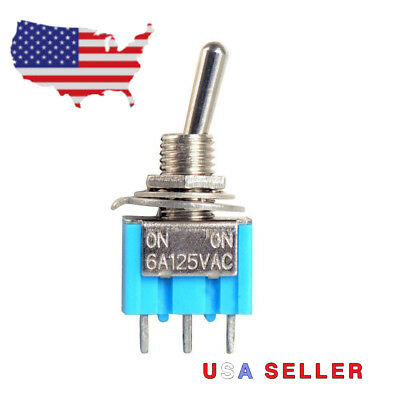 Mini Toggle Switch AC 125V 6A 2 Position SPDT Arduino Guitar Robotics Automation