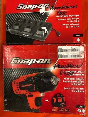 Snap-On CK885010DBX 18V 2 Tool Cordless Combo Kit CT8850 CT8810B Extra Battery.