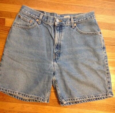 Vintage Levi 550 Jean Shorts Womens Sz 12 High Waisted Mom Relaxed Fit Light
