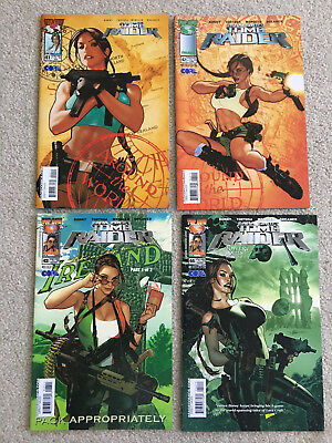Tomb Raider 41,42,43 and 44 all Adam Hughes covers some hard to find VF/NM+