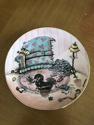 """The Cat Did It"" Danbury Mint Porcelain Collector Plate"