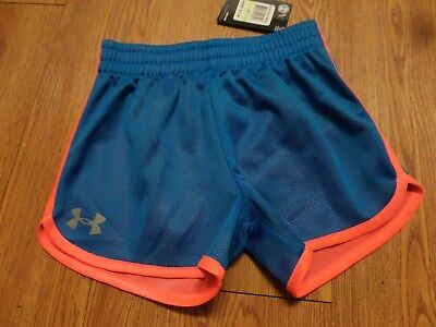 bnwt girls under armour shorts-size 4--blue& orange