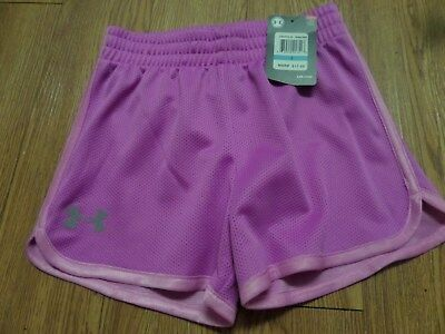 bnwt girls under armour shorts-size 5--purple-lilac