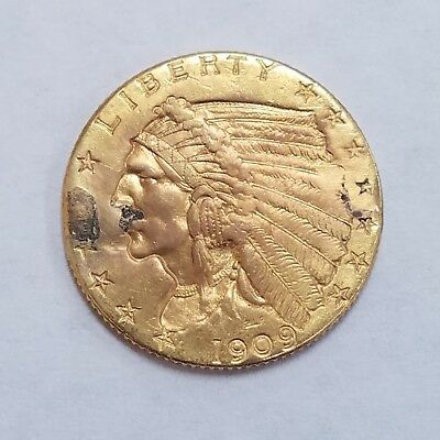 1909 $2.50 Indian Head Quarter Eagle Gold Coin ** FREE SHIPPING ** (1)