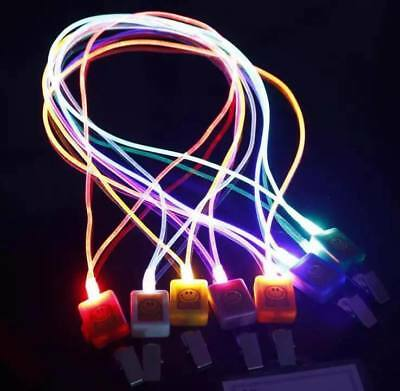 LED Light up lanyard with clip - 2 flashing options or still