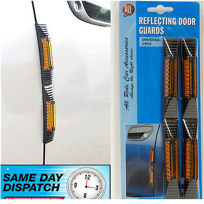 Car Door Edge Protector Guard Gard Reflecting Reflective Orange Classic Retro