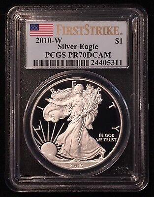 2010 W Proof American Silver Eagle $1 PCGS PR70 DCAM First Strike ASE SAE