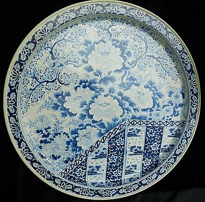 Spic & Span Promotional Serving Tray Ming Dynasty Plate Reproduction Blue White