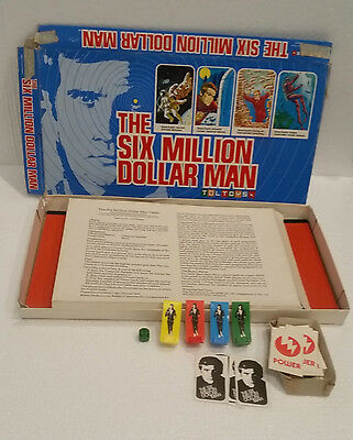 Six Million Dollar Man board Game TOLTOYS 1975