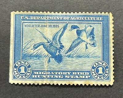 WTDstamps - #RW1 1934 - US Federal Duck Stamp - NG ***