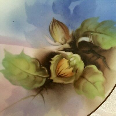 Pair Of Gorgeous Noritake 6.25 Inch Cabinet Plates, Nuts, Waterside