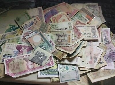 Huge Lot Banknotes And Coins Currency Foreign
