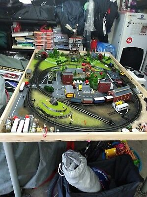 hornby model train set and diorama