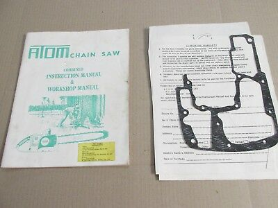 Atom Industries Chainsaw Instruction and Workshop Manual, Vintage