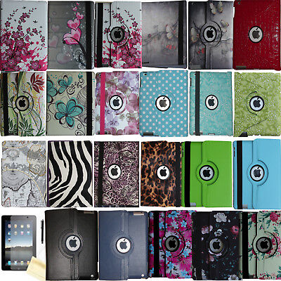 360 Rotating Magnetic Leather Case Smart Cover Stand For 2017 iPad 9.7 / 5th Gen