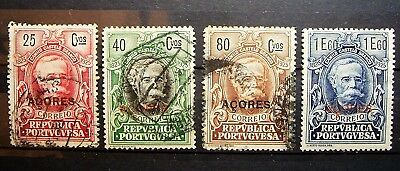 Portugul Colony Azores - 1925, 4 Used Stamps