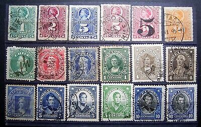 Chile Old World - Small Lot Of Very Old Used Stamps - Good For Age, See Photos.