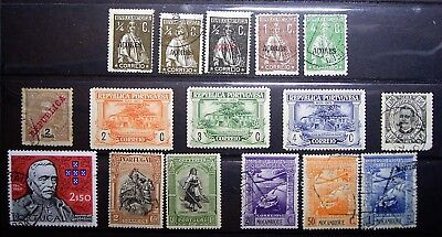 Portugal & Colonies, Azores, Mozambique - 5 M/Unused 11 Used Quallity Stamps(16)