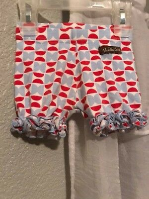 Matilda Jane red White and blue shorties. 12-18 months