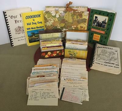 Vintage Estate Recipes Syndicate & Ohio Art Boxes, Handwritten~Clipped~Books