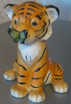 Collectable Figurine - Tiger With Butterfly On It's Nose