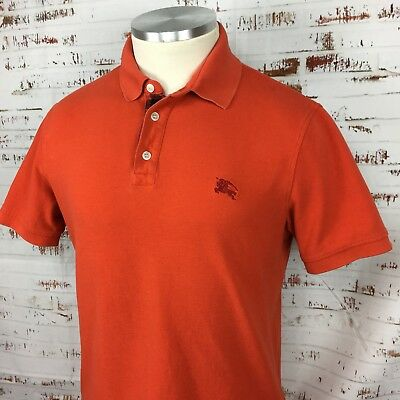 76a9f442a Burberry Brit Mens Cotton Polo Shirt Medium-Small M S Orange Short Sleeve