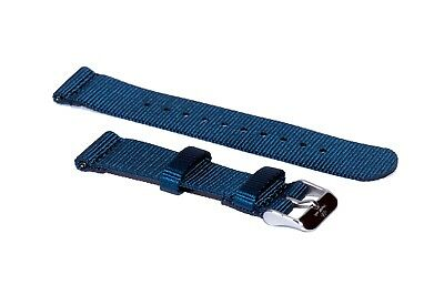 sMc 20/22mm Ocean Blue 2-Piece Nylon Watch Strap Replacement Band Quick Release