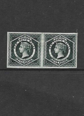 Stamps  New South Wales  1882-3 Crown Over Nsw Wmk Imperf Pair Variety -Mint