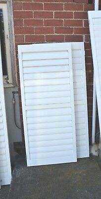 plantation shutters -  1 pair of doors - 610mm x 1440mm