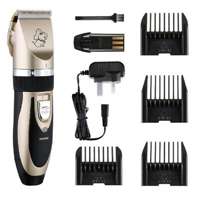 Cordless Dog Clipper Pet Grooming Trimming Kit Rechargeable Electric Cordless