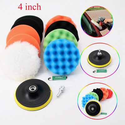 4'' Gross Polish Polishing Buffer Pad Kit With Drill Adapter For Car Polisher AU