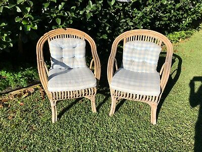 Cane Chairs with Cushions - Hamptons style