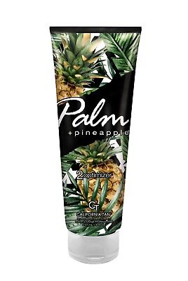 sunbed tanning lotion with bronzer PALM AND PINEAPPLE optimiser California Tan