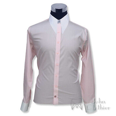 Mens Vintage Dagger shirt Spear point collar 1930s Pink pin stripes Cotton Gents