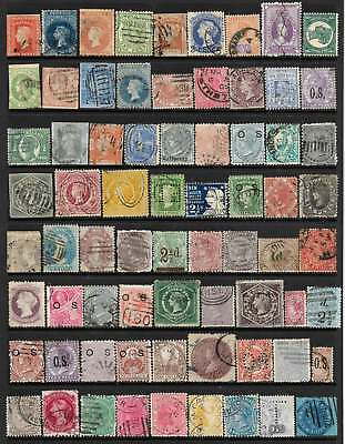 AUSTRALIAN STATES - ALL COLONIES REPRESENTED VALUABLE 71 USED STAMPS No Reserve