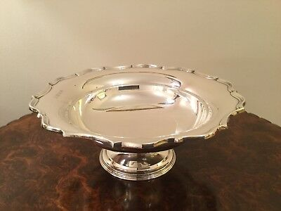 George V Solid Silver Footed Dish Fruit Bowl by Barker Brothers Birmingham 1927