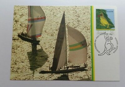 1983 America's Cup  Postcard  Two Yachts Ac 1 - Vgc