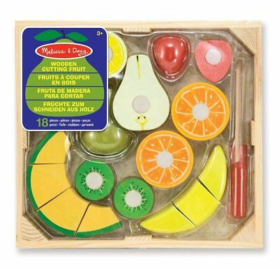 Brand New & Shrinkwrapped - Melissa and Doug Wooden Cutting Fruit - age 3+