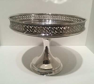 Good Edwardian Hamilton & Inches Silver Plate Footed Bowl Comport Dish Tazza