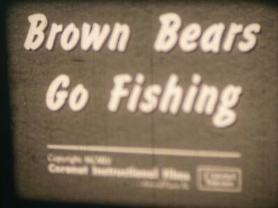 Brown Bears Go Fishing 16mm short film 1955 B&W