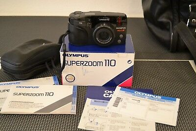 OLYMPUS Superzoom 110 Multi AF - Zoom 38-110mm - OVP - Tasche - Papiere - TOP