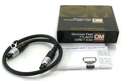 Olympus TTL Auto Cord T 0.3m for OM System boxed MINT