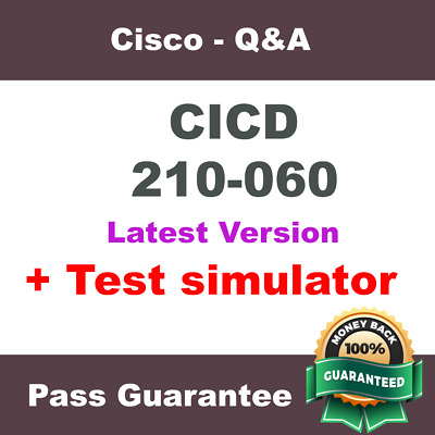 Cisco CICD Exam Dump for 210-060 Exam Q&A PDF (2018 Verified)
