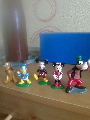 Vintage disney minnie/mickey mouse/donald/goofy/pluto  painted lead figures