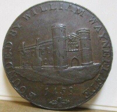 1793 DH 8a -  Conder Token - Lincolnshire, Wainfleet - Halfpenny - Great Britain