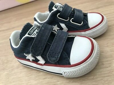 Baby Boys Converse All Star Summer Canvas Shoes Infant Size 3