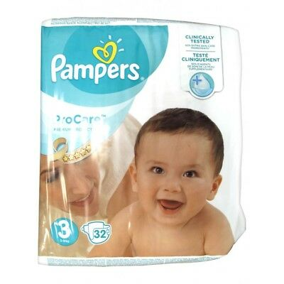 Pampers ProCare Premium Protection Taille 3 (5-9 kg)  Couches par 32