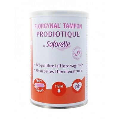 Saforelle Florgynal Tampon Probiotique Applicateur Compact 9 Mini